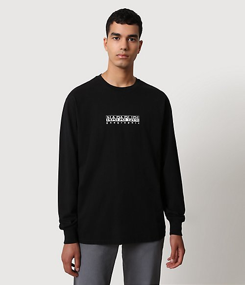 T-shirt a manica lunga Box-